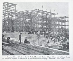 Historical Photo of G.A.R. High School Construction