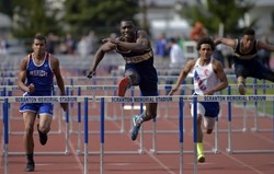 Meyers' Raheem Twyman Wins Two District 2 Class 2A Boys Track and Field Gold Medals