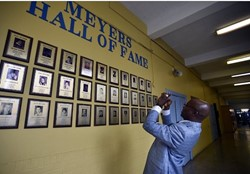 Qadry Ismail returns to Meyers High School with NFL Commemorative Golden Football