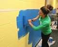 Ms. Bilbow Paints Wall