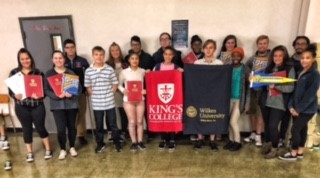 Coughlin students participate in Wilkes, King's and Misericordia instant decision day.