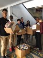 Students deliver canned food
