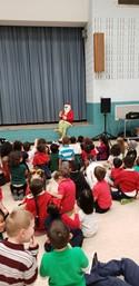 Grinch visits Kindergarten students