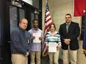 Mr. Jerry Warner, Children Service Center School Based Behavior Health program, Tyree Harrison, Jenna Vincenti, Mr. Tony Khalife, assistant principal.
