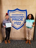 December Students of the Month Emily Davis and Yarritza Marrera