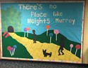 PDS Wilkes students create bulletin board at Heights Murray