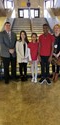 January Students of the Month with advisers and principal
