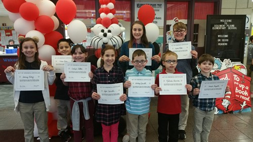 February Acts of Kindness Students