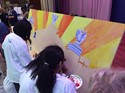 students paint united way mural