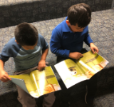 Students reading RIF books
