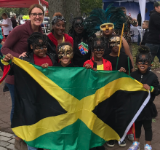 Mrs. Myers and a few Heights students at the Wilkes Barre Multicultural Parade