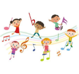 Music notes and kids