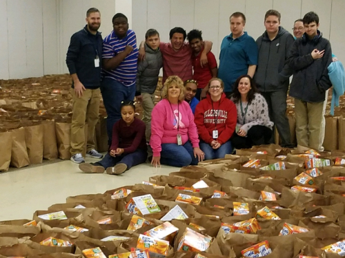 WBA Autistic support and Life skills classes volunteer at the CEO /Weinberg food bank