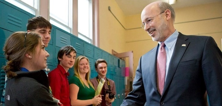 Gov. Wolf visits Wilkes-Barre Area School District