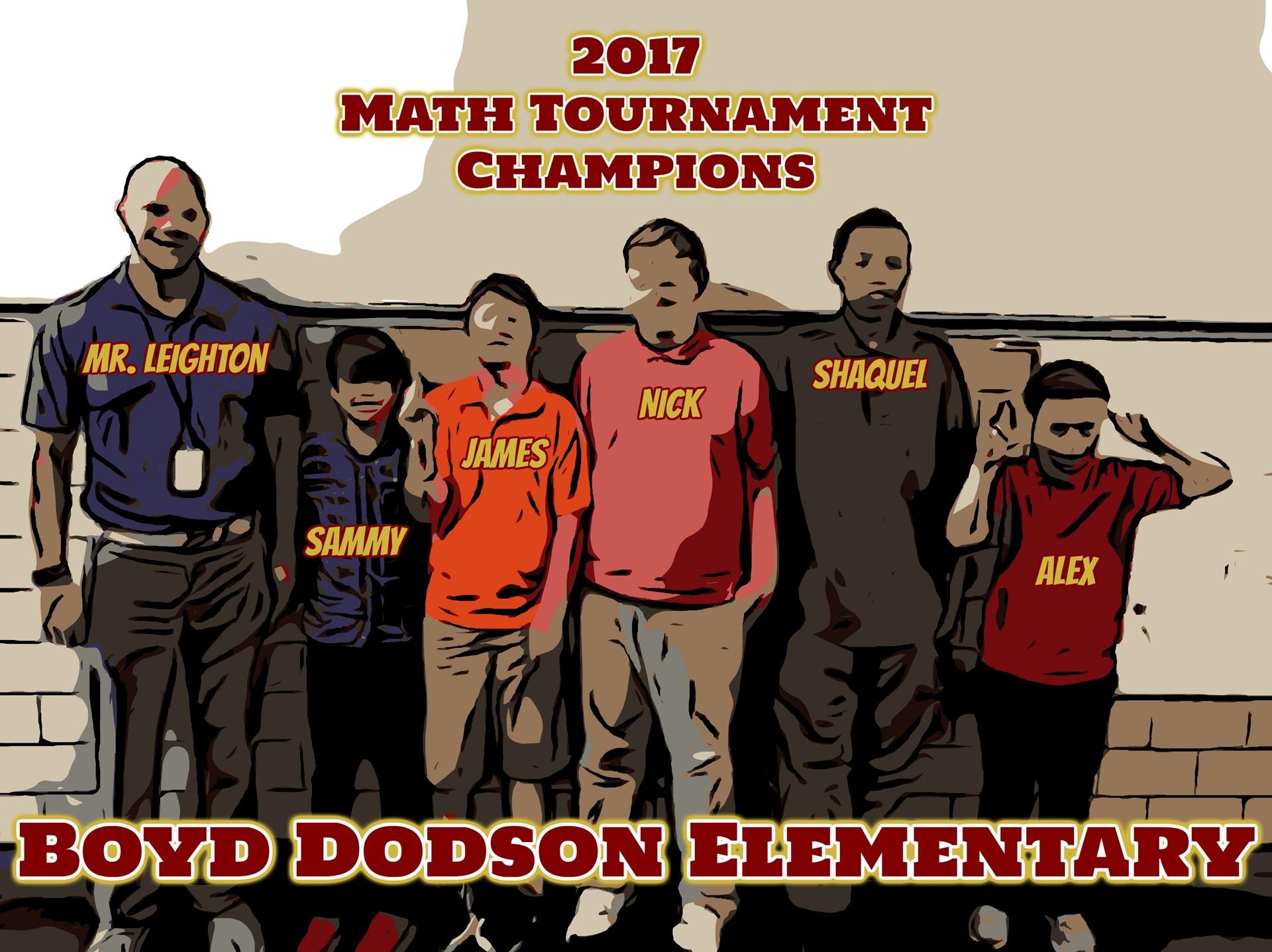 2017 Math Tournament Champions