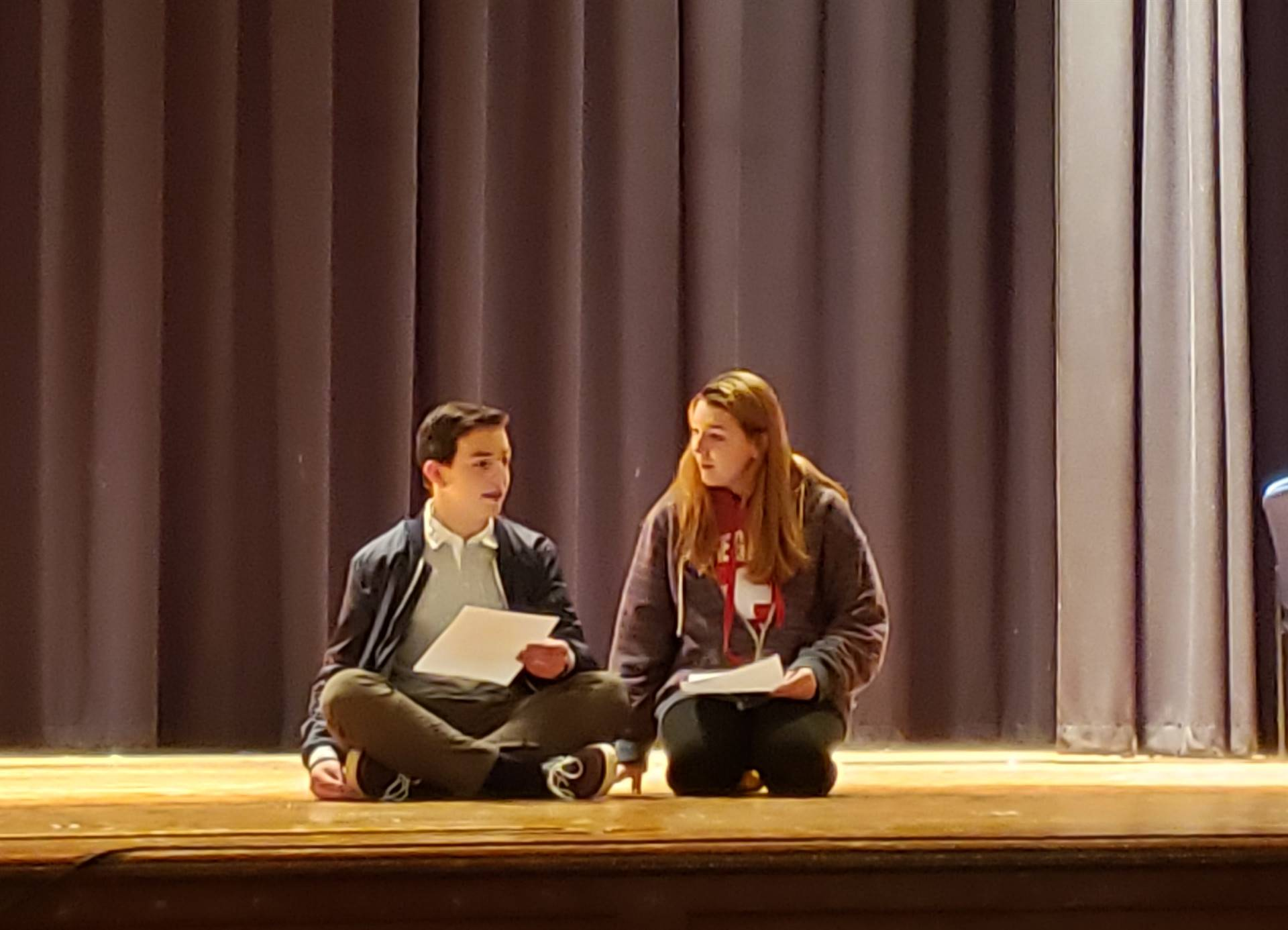 Theatre Arts Students Partake in Partner Scene Work