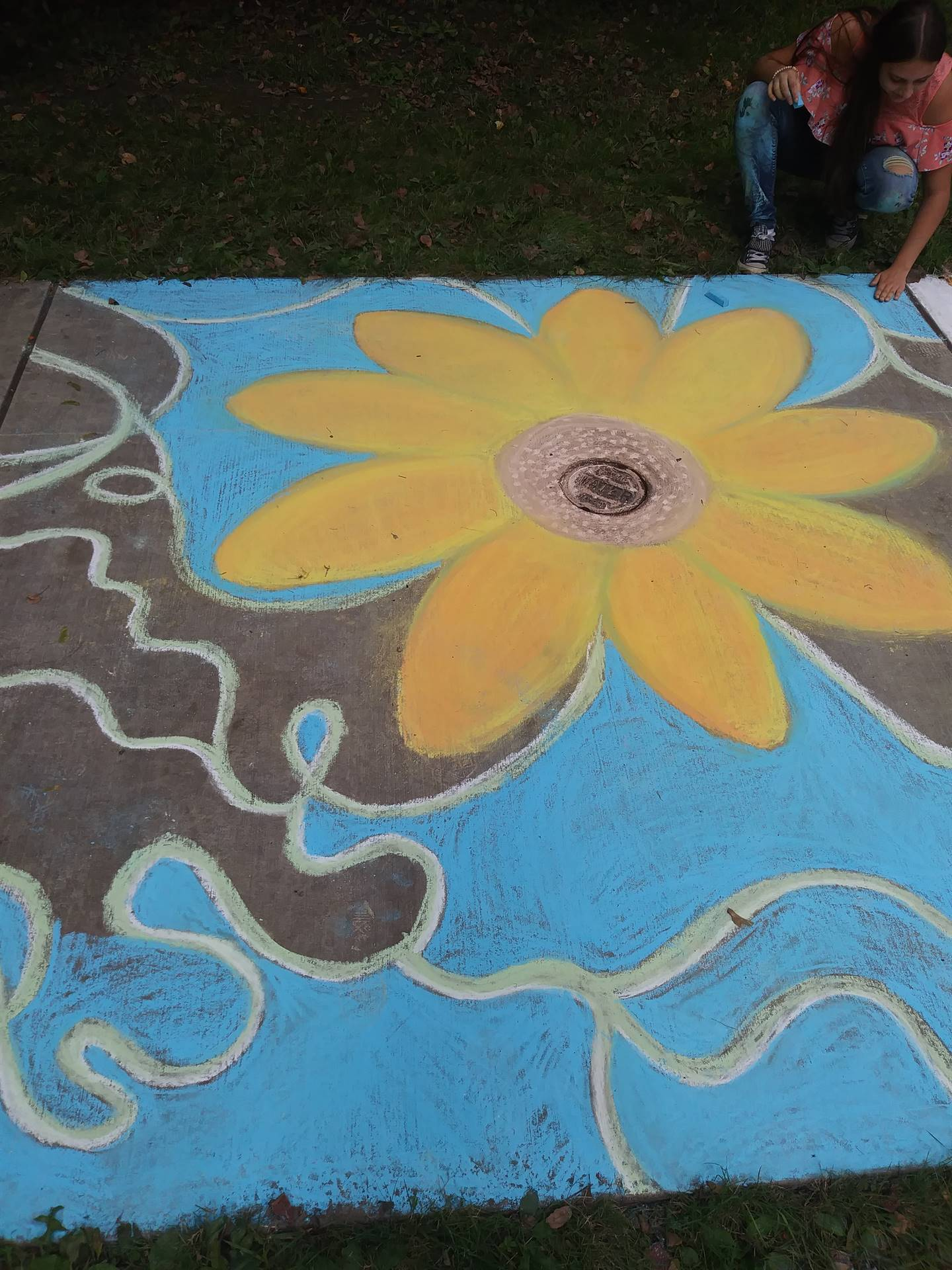 WBASD CAPAA Visual Art Students at Chalkfest 2018