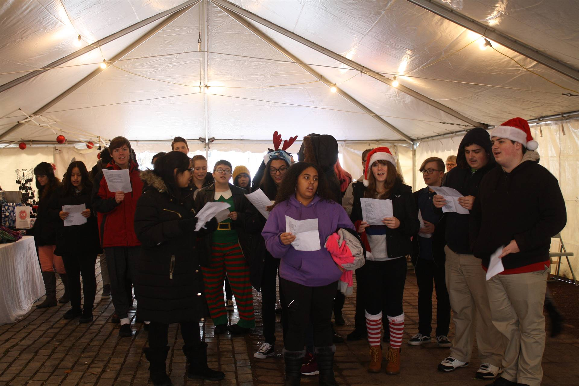 WBASD CAPAA Caroling at Public Square Holiday Market 2018