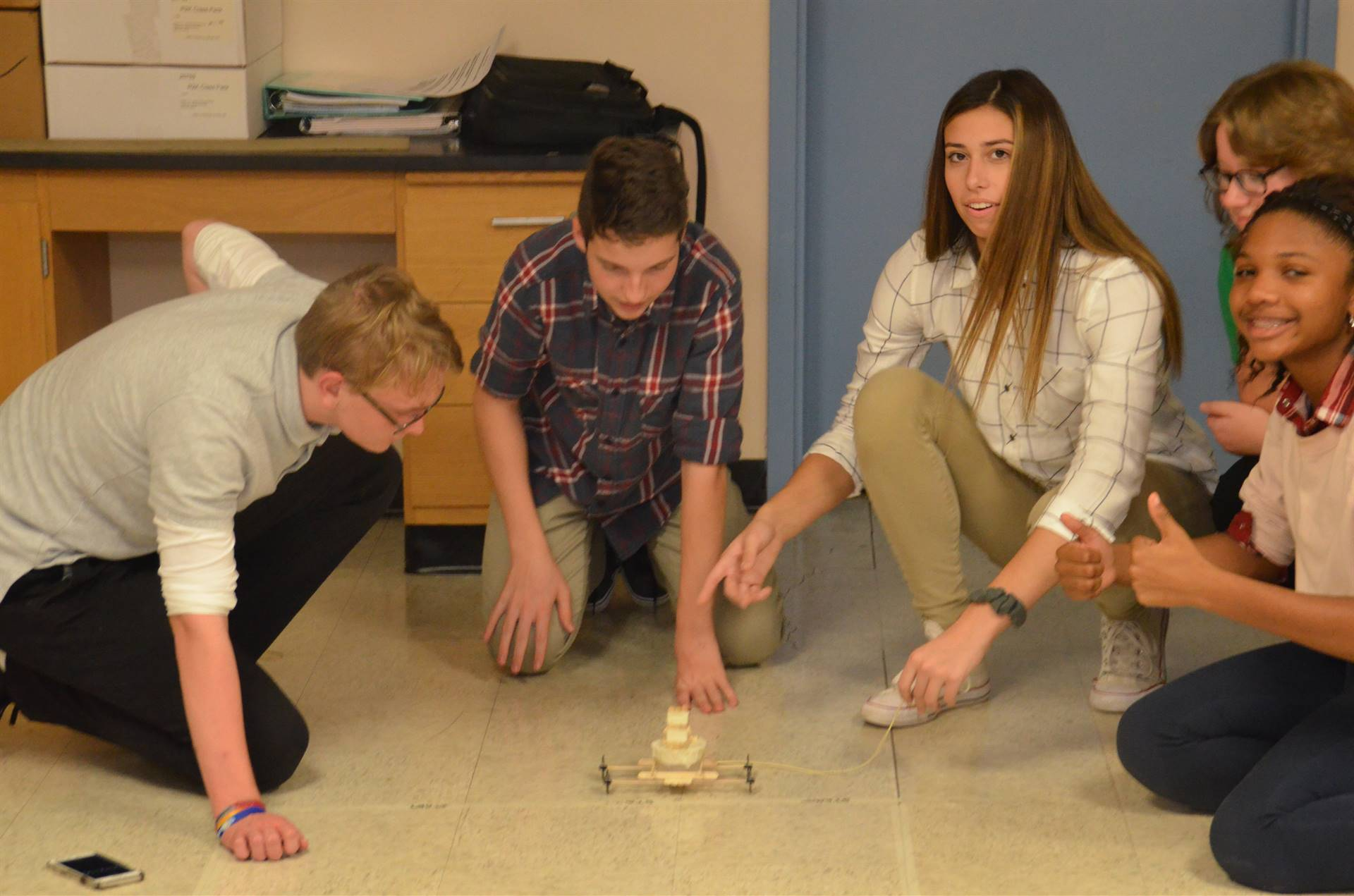 STEM Day 2018: Rubber Band Car Races