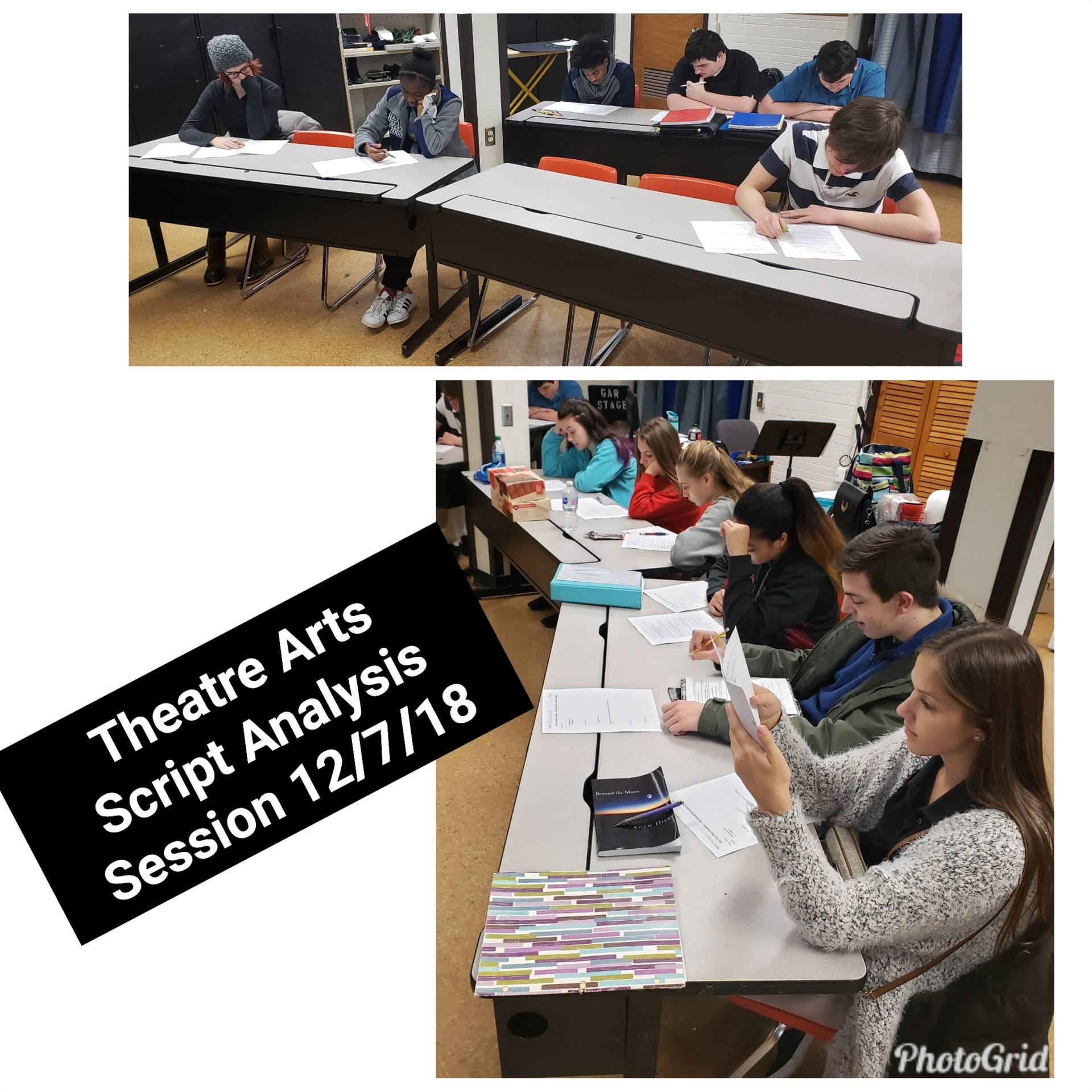 CAPAA Theatre Arts Script Analysis Session