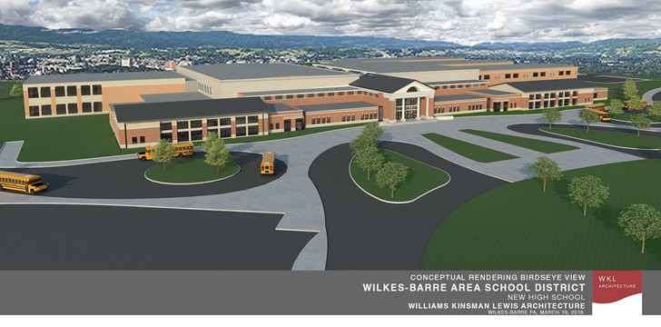 Preliminary Conceptual Rendering of new High School