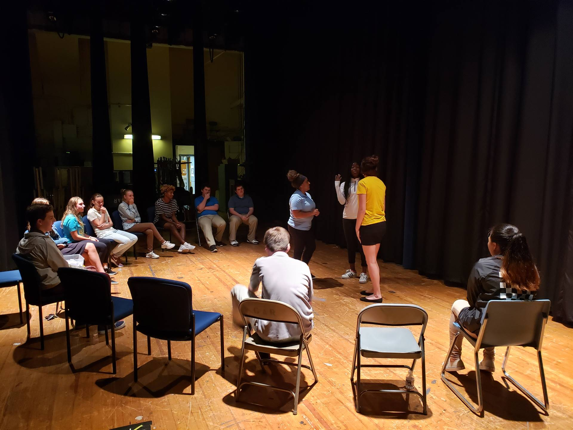 WBASD CAPAA Theatre Arts Students Learning about Improvisational Theatre.