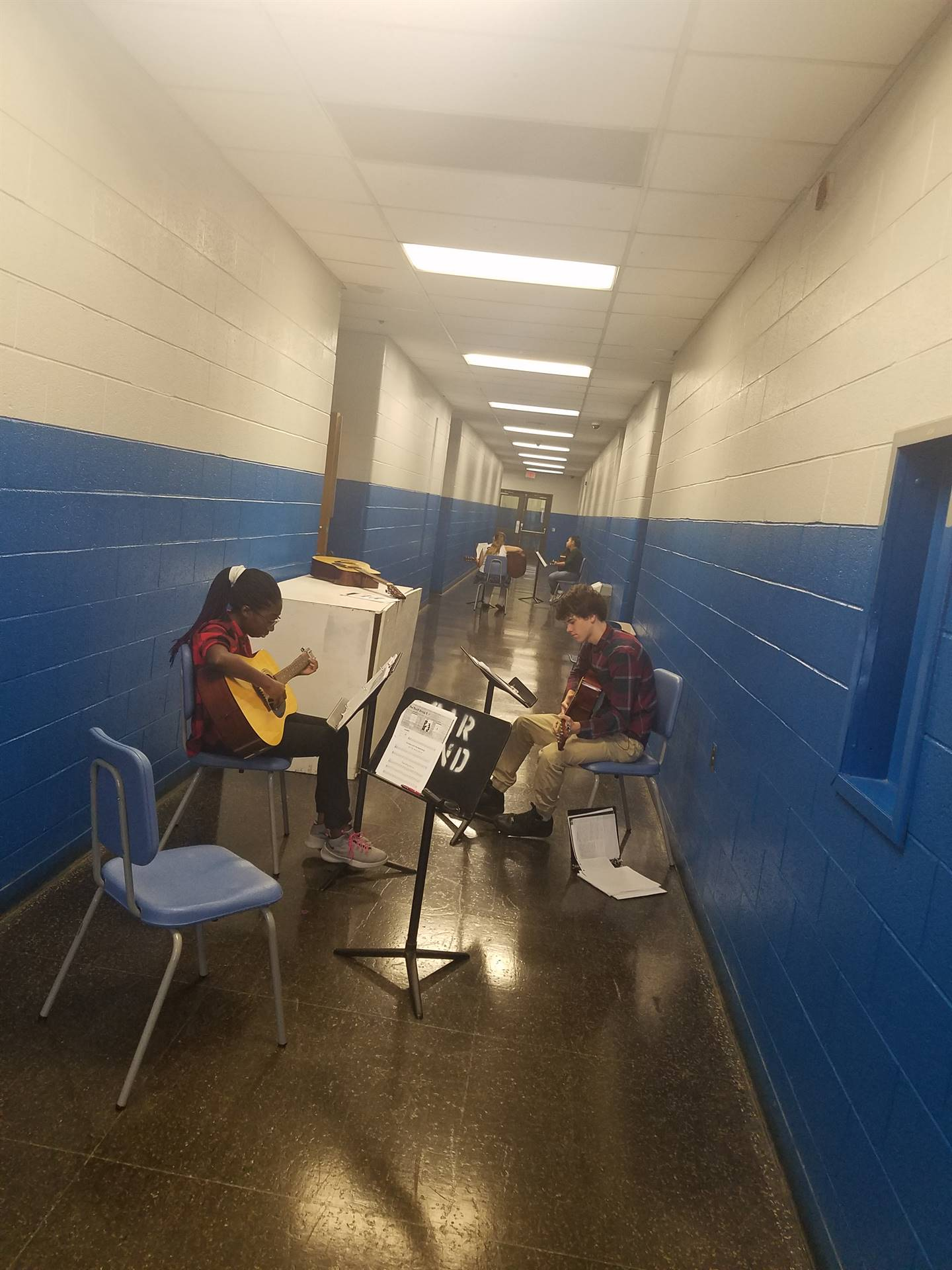 WBASD CAPAA Music Students Working Together on Practice Day