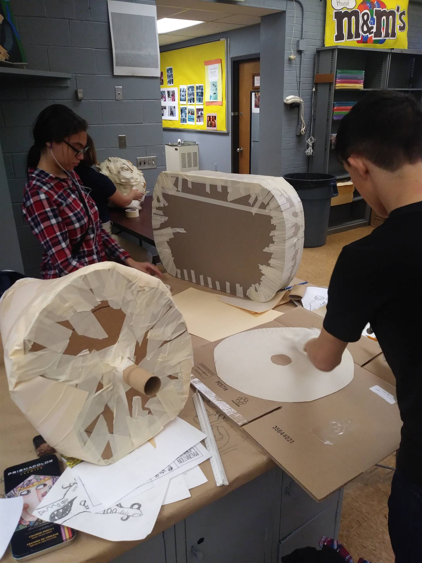 WBASD CAPAA Visual Arts Students Working on Sculpture Projects