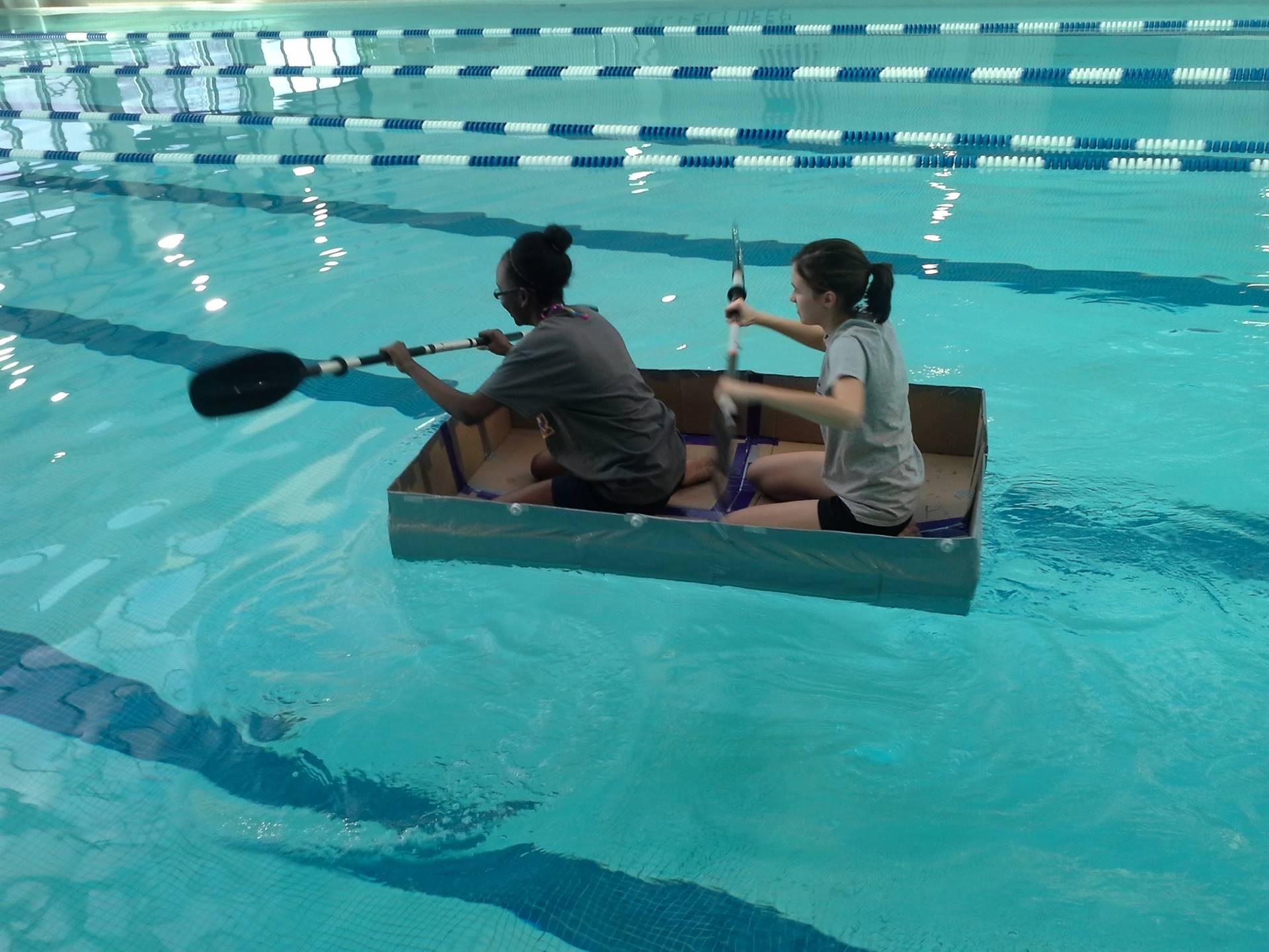 Cardboard Boat Testing