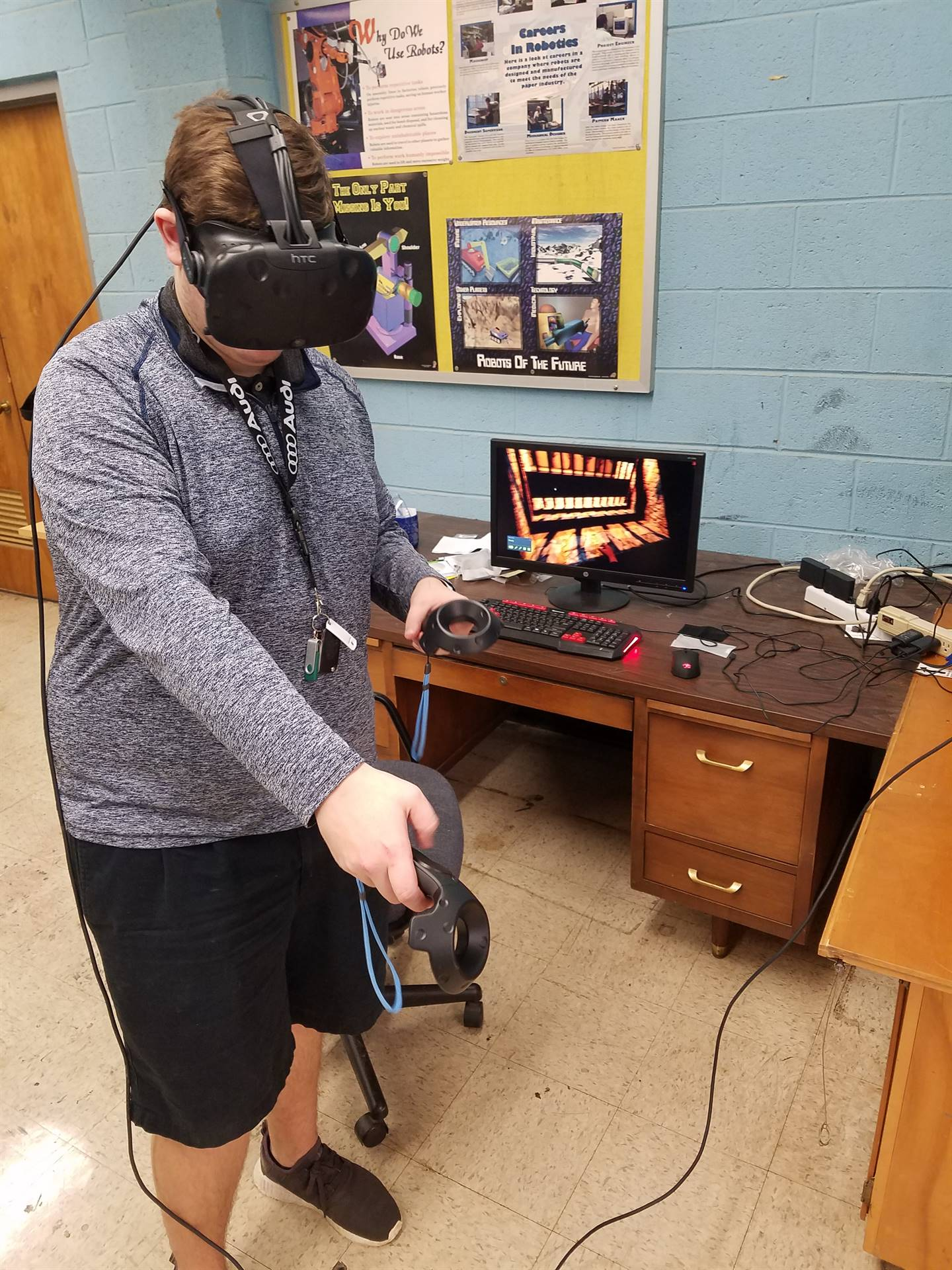 Trying out the VR