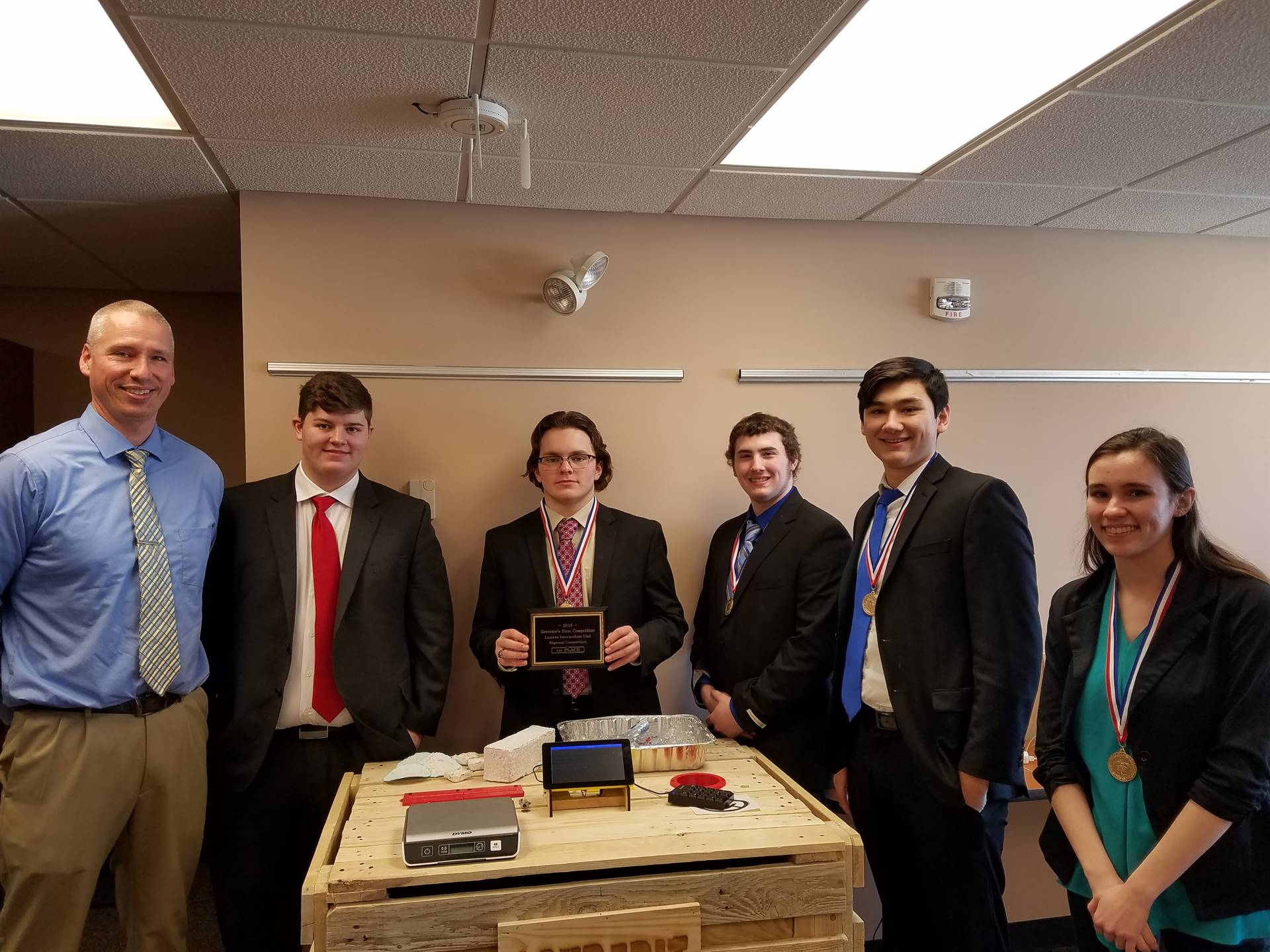 2018 Governor's Competition 1st place Regional winners