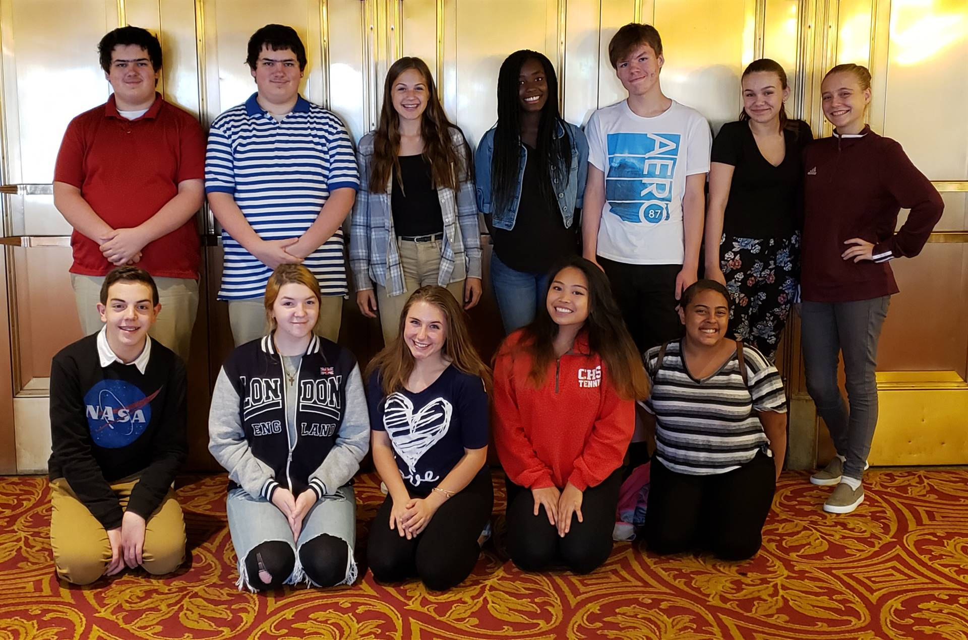 Theatre Arts Students at Kirby Center for Master Class