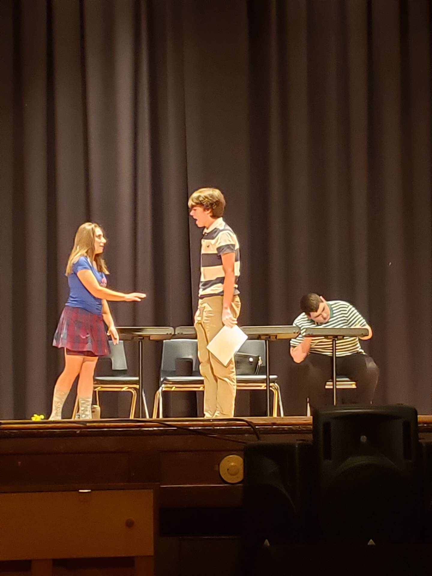 Theatre Arts Comedic Group Scene Work