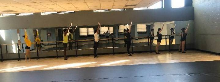 CAPAA Dance Students Working on Warm-Up Technique