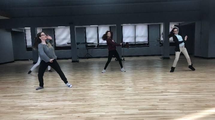 CAPAA Dance Students in Rehearsal